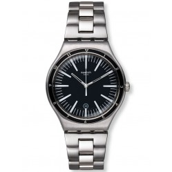 Swatch Men's Mire Noire Steel Watch YWS411G