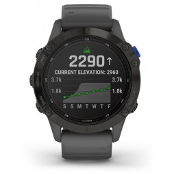 Garmin Fenix 6 Pro Solar Edition Slate Grey Rubber Strap Watch 010-02410-11