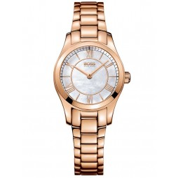 BOSS Ladies Ambassador Rose Gold Plated Bracelet Watch 1502378