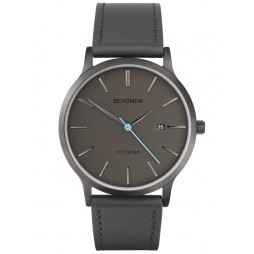 Sekonda Mens Grey Strap Watch 1844