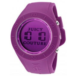 Juicy Couture Ladies Purple Rubber Strap Watch 1900882