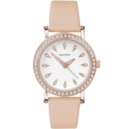 Sekonda Ladies Pink Strap Watch 2027