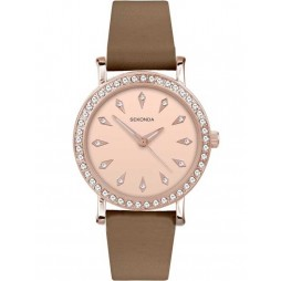 Sekonda Ladies Brown Strap Watch 2028