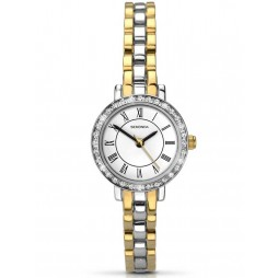 Sekonda Ladies 2 Colour Stone Set Bracelet Watch 2149