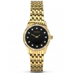 Sekonda Ladies Gold Plated Stone Set Bracelet Watch 2152