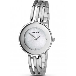 Sekonda Ladies Stoneset Stainless Steel Bracelet Watch 2303