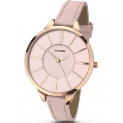 Sekonda Ladies Pink Leather Strap Watch 2305