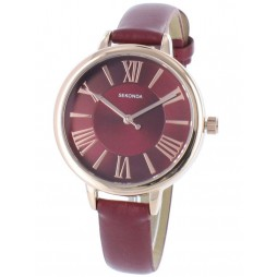 Sekonda Ladies Red Strap Watch 2357