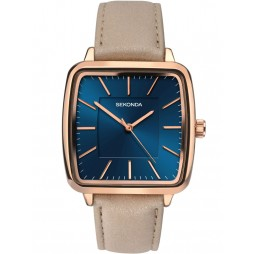 Sekonda Ladies Rose Gold-Plated Strap Watch 2449