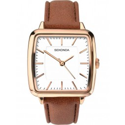 Sekonda Ladies Rose Gold-Plated Strap Watch 2450