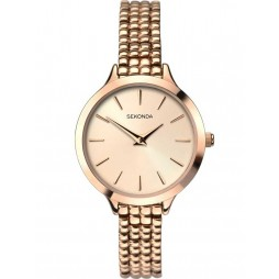 Sekonda Ladies Rose Gold-Plated Beaded Bracelet Watch 2478