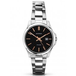 Sekonda Ladies Black Stainless Steel Bracelet Watch 2097