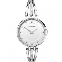 Sekonda Ladies Silver Stone Set Stainless Steel Bracelet Watch 2467