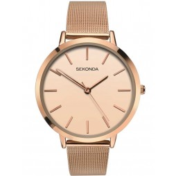Sekonda Ladies Rose Gold Stainless Steel Bracelet Watch 2475
