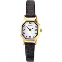 Sekonda Ladies Mother Of Pearl Leather Strap Watch 4416