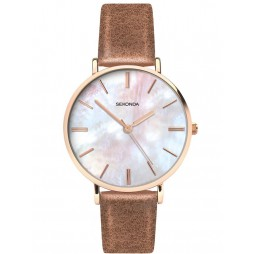 Sekonda Ladies Editions Brown Leather Strap Watch 2558