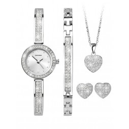 Sekonda Ladies Crystal Heart Watch and Gift Set 2528G