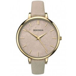Sekonda Editions Ladies Beige Leather Strap Watch 2562