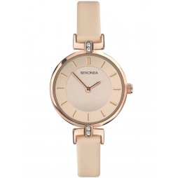 Sekonda Ladies Rose Gold Plated Cubic Zirconia Watch 2627