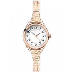 Sekonda Ladies Rose Gold Plated Expandable Watch 2639