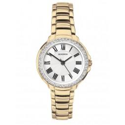 Sekonda Ladies Classic Gold Plated Stone Set Bracelet Watch 2778