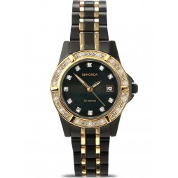 Sekonda Ladies Black Ion-plated Two Tone Bracelet Watch 4520