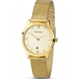 Sekonda Ladies Gold Mesh Watch 2103