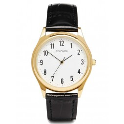 Sekonda Mens Gold Plated Strap Watch 3623