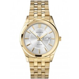 Sekonda Mens Gold Plated Bracelet Watch 3450