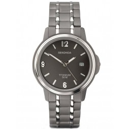 Sekonda Mens Titanium Bracelet Watch 3876