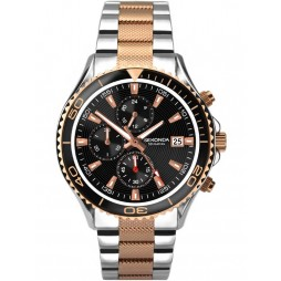 Sekonda Mens Two Tone Bracelet Watch 1089