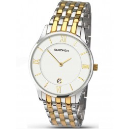 Sekonda Mens Yellow Gold Plated Stainless Steel Watch 1138