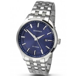 Sekonda Mens Blue Dial Stainless Steel Bracelet Watch 1176