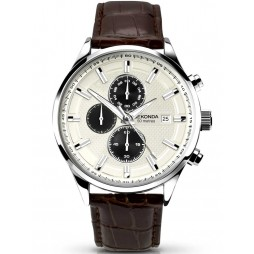 Sekonda Mens Brown Leather Chronograph Watch 1177