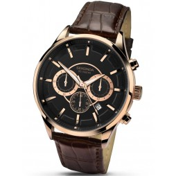 Sekonda Mens Brown Leather Chronograph Watch 1178