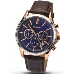 Sekonda Mens Blue Dial Chronograph Watch 1180