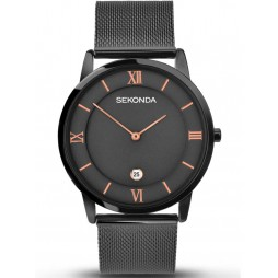 Sekonda Mens Black Strap Watch 1187