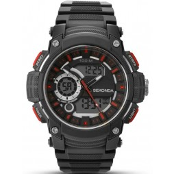 Sekonda Mens Black Chronograph Watch 1161