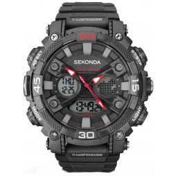 Sekonda Mens Dual Display Chronograph Watch 1036