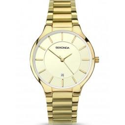 Sekonda Mens Gold Plated Bracelet Watch 1384