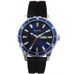 Sekonda Mens Blue Rubber Strap Watch 1350
