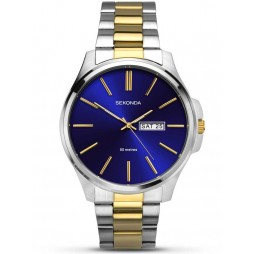 Sekonda Mens Blue Stainless Steel Bracelet Watch 1440
