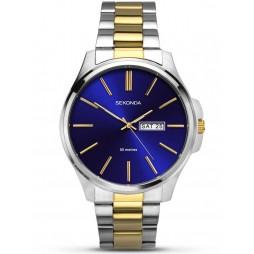 Sekonda Mens Blue Stainless Steel Bracelet Watch 1440