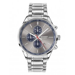 Sekonda Mens Grey Chronograph Dial Bracelet Watch 1712