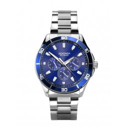 Sekonda Mens Midnight Blue Multi Function Bracelet Watch 1779