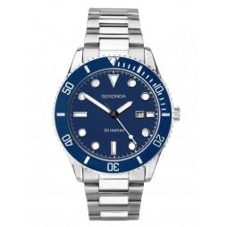 Sekonda Mens Blue Date Dial Bracelet Watch 1789