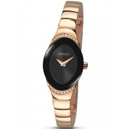 Sekonda Ladies Seksy Rose Gold Plated Stone Set Bracelet Watch 2297.37