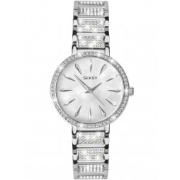 Sekonda Ladies Seksy Stainless Steel Stone Set Bracelet Watch 2371