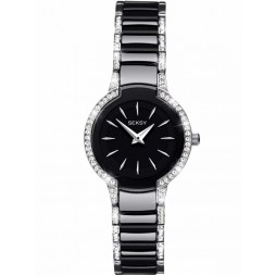 Sekonda Ladies Seksy Entice Black Stone Set Bracelet Watch 2380
