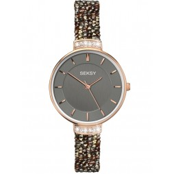 Sekonda Ladies Brown Seksy Swarovski Watch 2579